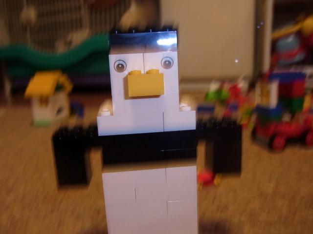 ぽこすけ撮影ママ作ペンギン
