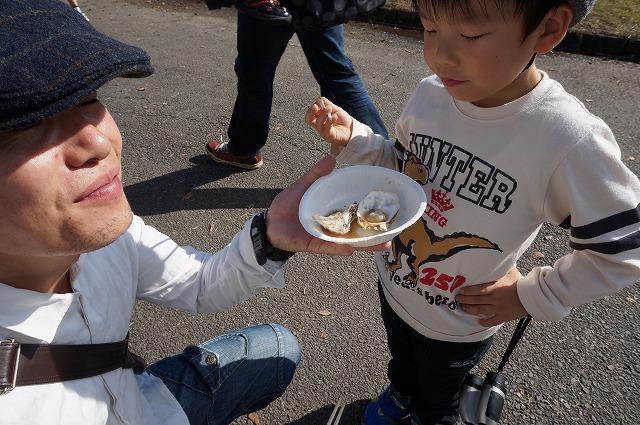 牡蠣がおいしいと言うぽこすけ