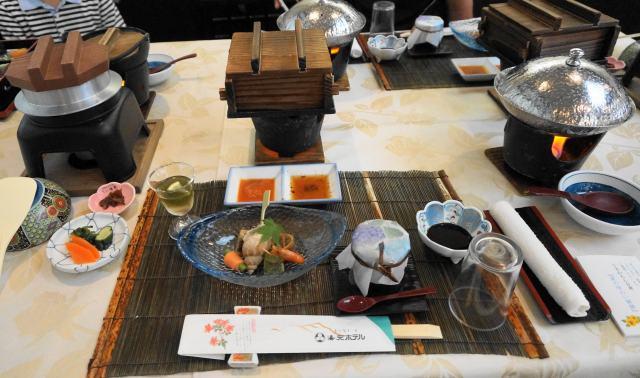 雲仙湯元ホテルの夕食